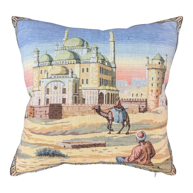 Egyptian Tapestry Pillow For Sale