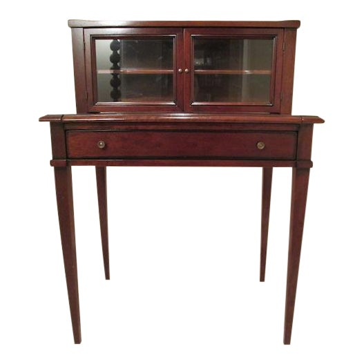 Grange Writing Desk with Curio For Sale
