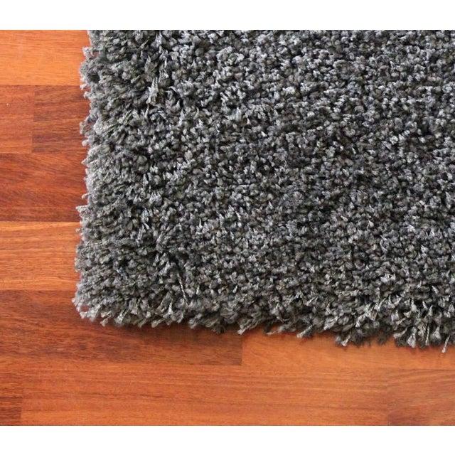 "Dark Gray and Charcoal Shag Rug - 5'4 ""x7'8'' - Image 3 of 6"