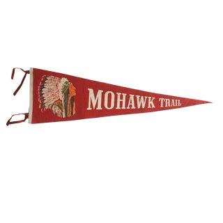 Vintage Mohawk Trail Felt Flag Pennant For Sale