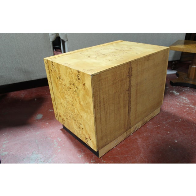 Milo Baughman For Thayer Coggin Burl Wood Nightstand For Sale In Detroit - Image 6 of 8