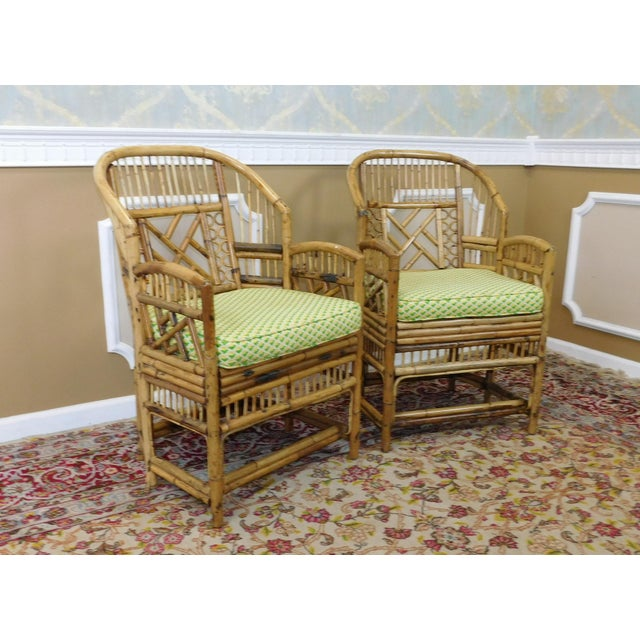 Brighton Style Chippendale Hollywood Regency Bamboo Armchairs- A Pair - Image 5 of 10