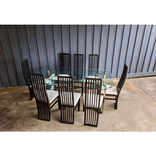 Contemporary 1980s Contemporary Dining Chairs - Set of 8 For Sale - Image 3 of 10