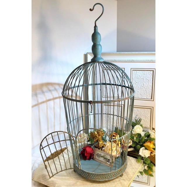 Vintage Wire Bird Cage For Sale - Image 9 of 10