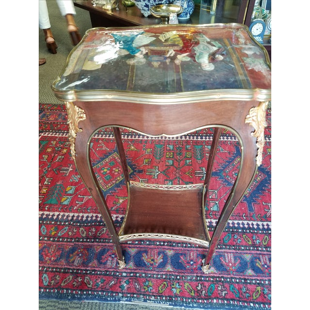 Antique French Enamel Palos Table - Image 5 of 7