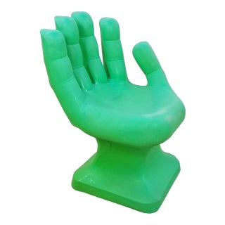 1960s Rmi-I Green Plastic Hand Chair For Sale
