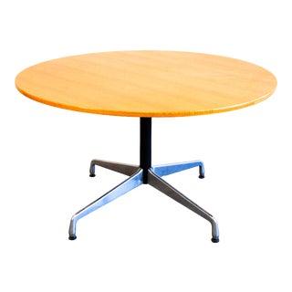 "Danish Modern Herman Miller, 48"" Diameter Mahogany Round Dining Table For Sale"