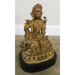 Vintage Antique Avalokiteshvara Badhisattva Guanyin Figure in Royal-Ease/Water-Moon Pose Preview
