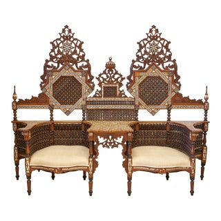 Vintage Moroccan Double Settee For Sale