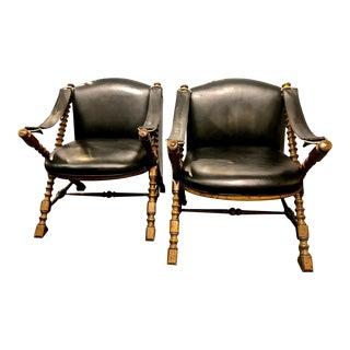 Pair Mid-Century Drexel Safari Chairs For Sale