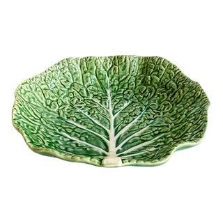Vintage Green Cabbage Ware Serving Bowl