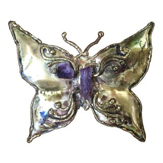 Vintage Mid-Century Brutalist Butterfly Figurine For Sale