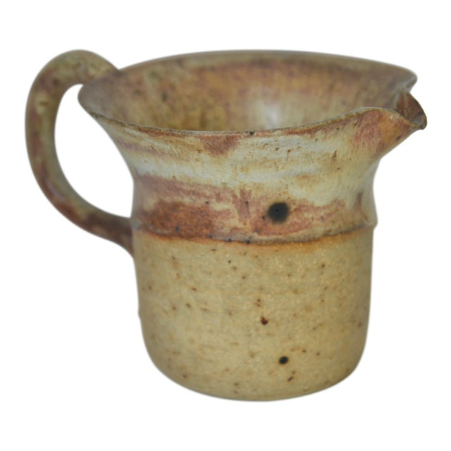 Mid Century Studio Pottery Pitcher 1974 For Sale