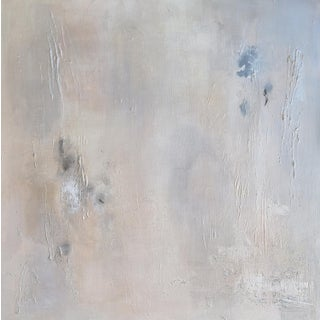 """""""Neutral Glow"""" Contemporary Abstract Metallic Mixed-Media Painting For Sale"""
