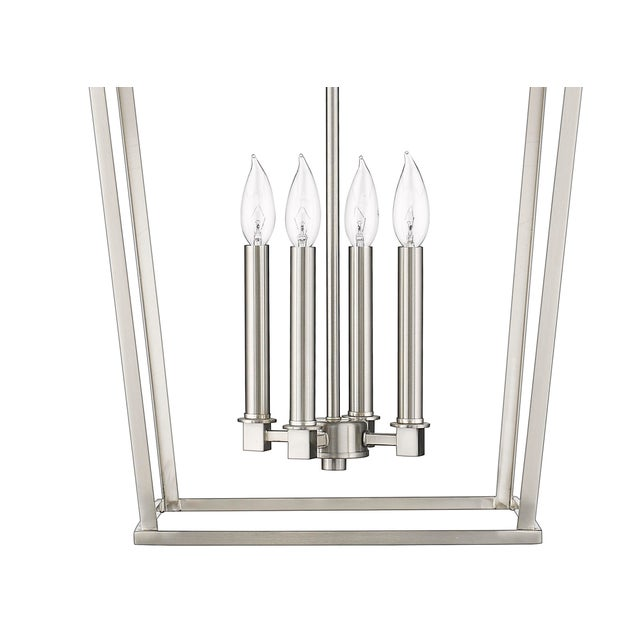 2010s Ponce City 4 Light Pendant, Satin Nickel For Sale - Image 5 of 8