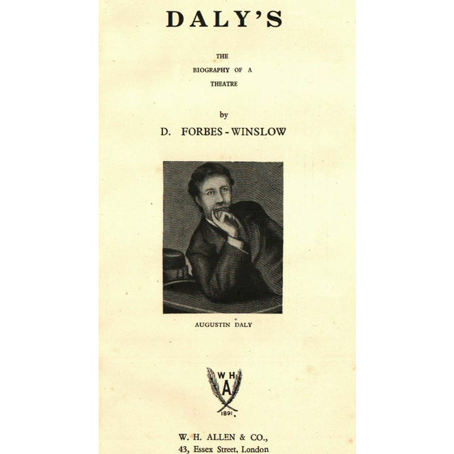 1944 daly s the biography of a theatre hardcover chairish