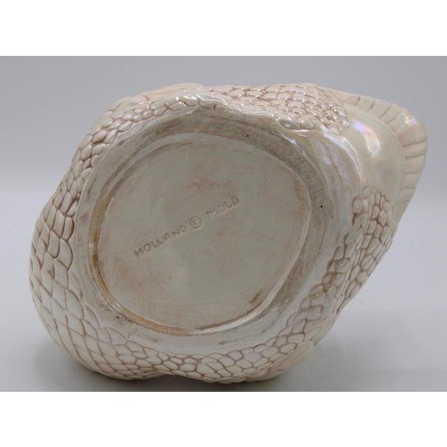 Cream Lusterware Swan Cachepot Planter For Sale - Image 11 of 12