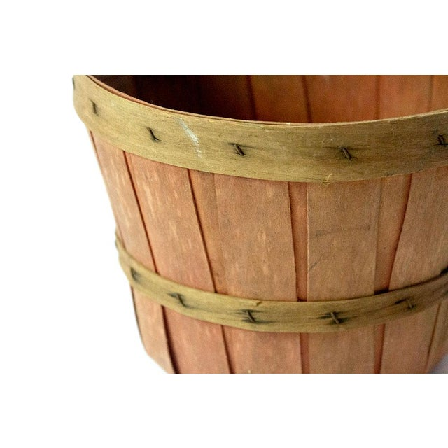 Mid 20th Century Vintage Wood Slat Apple Basket For Sale - Image 5 of 7