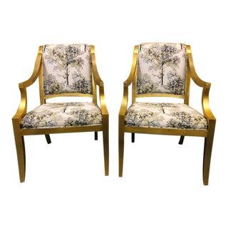 Bernhardt Lisette Arm Chairs - a Pair For Sale