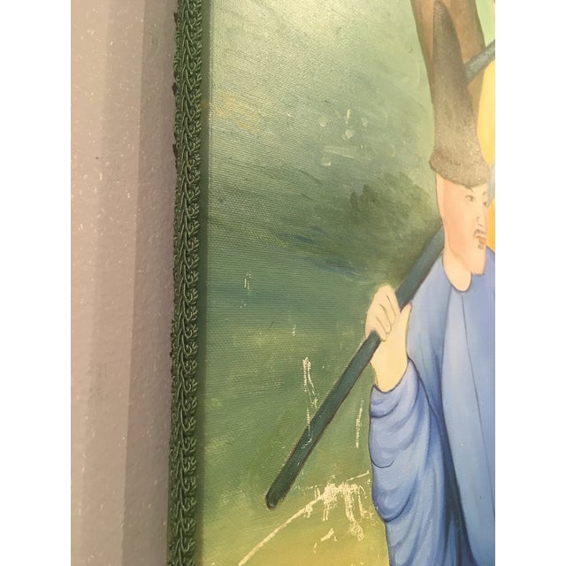 Chinoiserie Mural Painting on Panels For Sale - Image 11 of 13