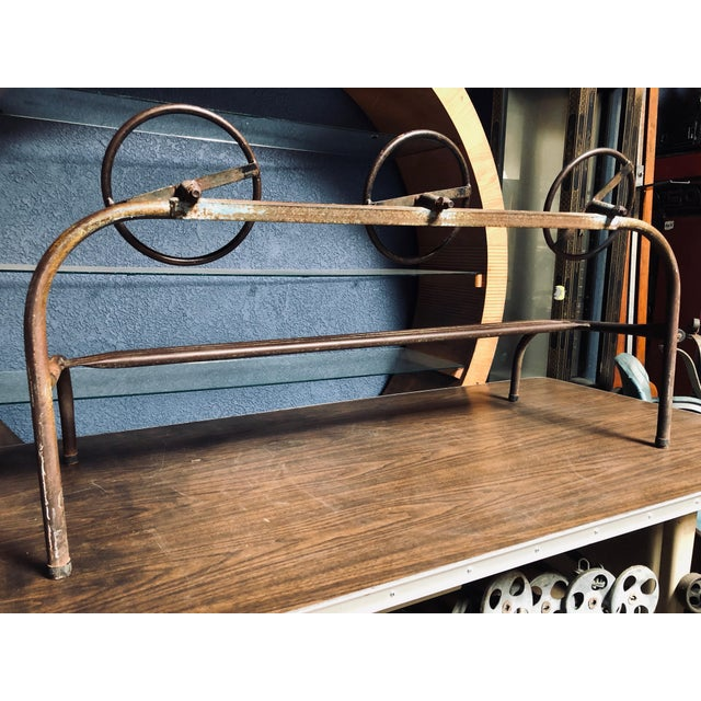 Amazing Children's Vintage Hand-Bent Hand-Welded Metal Old School Playground Toy For Sale - Image 10 of 11