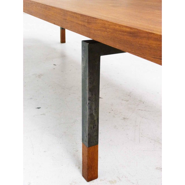 Brown Teak & Steel Coffee Table by Johannes Aasbjerg for Illums Bolighus For Sale - Image 8 of 8