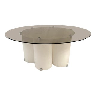 1970s Space Age Side Table in White Lucite For Sale
