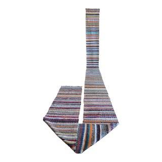 Vintage Handmade Stair Runner Ragrug Runner Rug Extra Long Runner Stair Tread- 1′9″ × 28′5″ For Sale