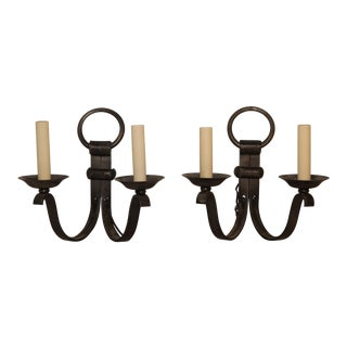 Vintage French Sconces - a Pair