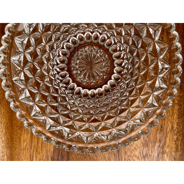 Mid 19th Century Vintage Textured Glass Catchall Dish For Sale - Image 5 of 11