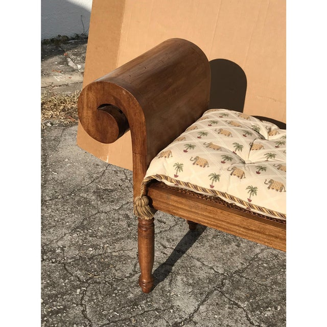 Vintage Carved Wood Window Bench - Image 2 of 5