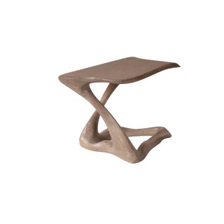 Amorph Tryst Side Table in Gray Custom Stain For Sale