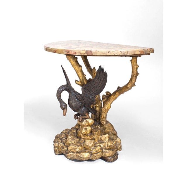 Italian Neoclassic '19th Century' Gilt Console Table For Sale - Image 4 of 4