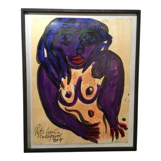 Vintage Peter Keil Painting For Sale