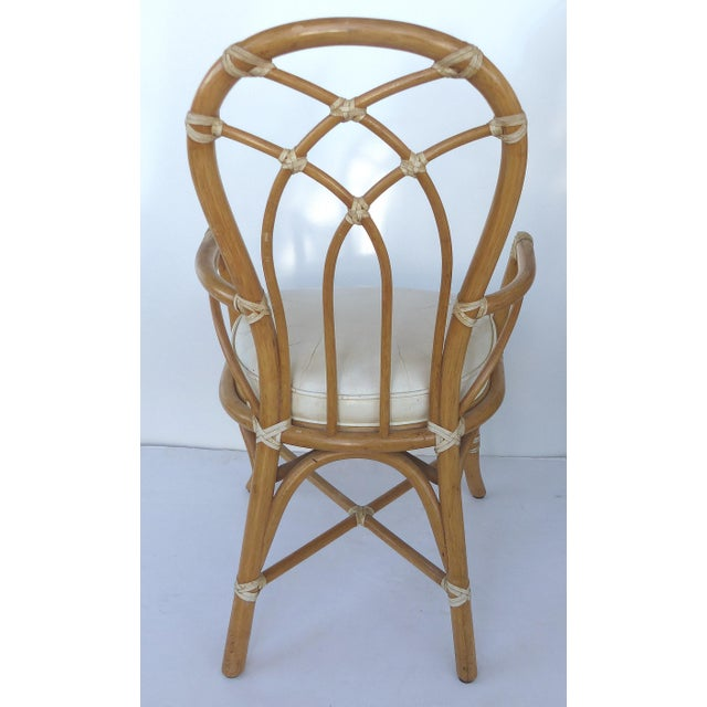McGuire Rattan Dining Chairs - Set of 6 - Image 5 of 10