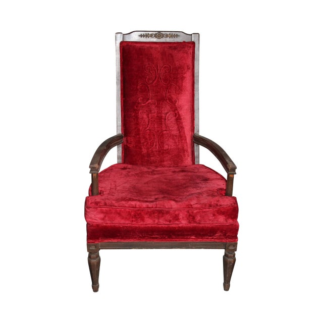 Antique Red Royal Chair - Antique Red Royal Chair Chairish