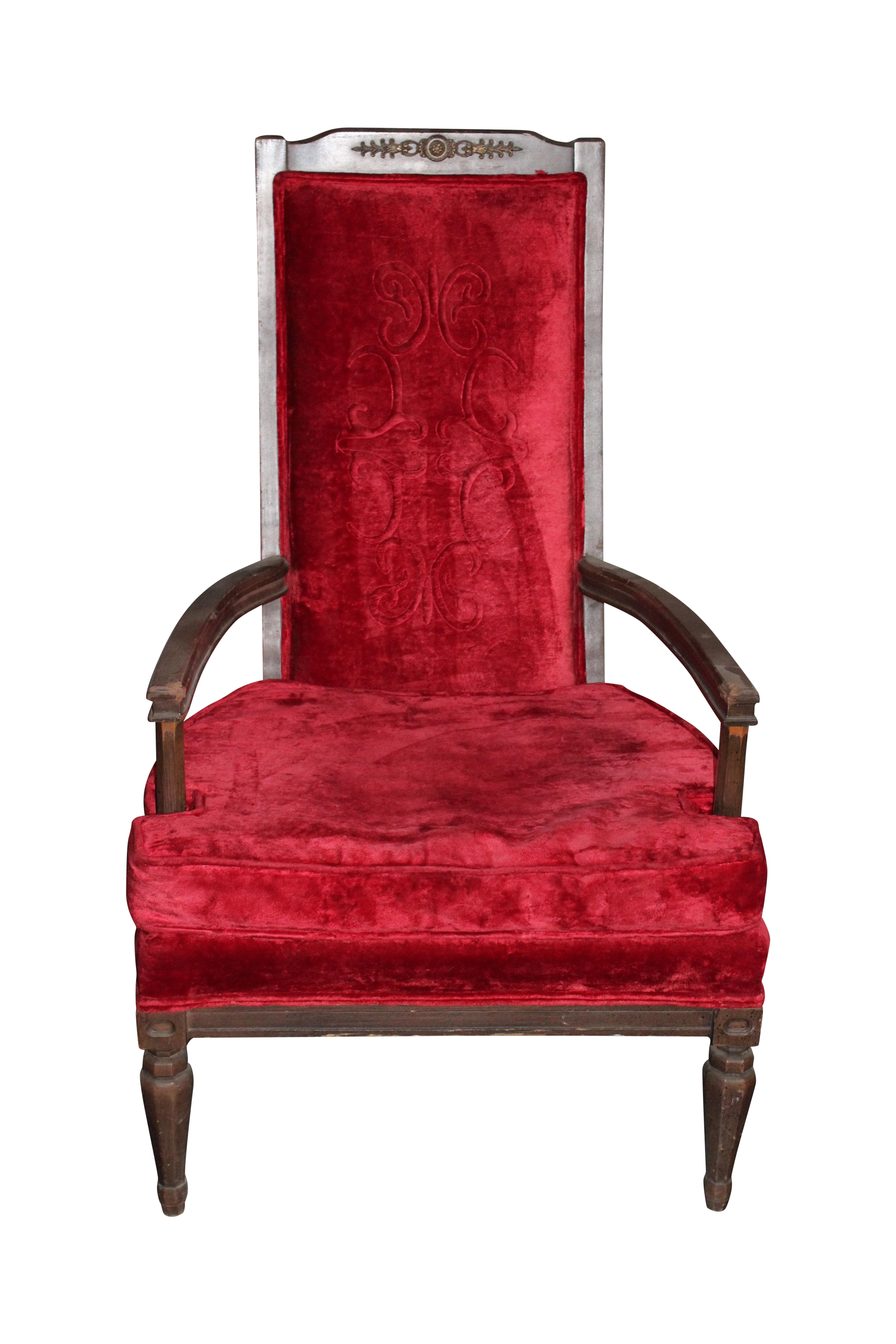 Antique Red Royal Chair