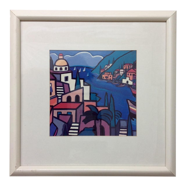 Early Hand Signed Romero Britto Lithograph For Sale