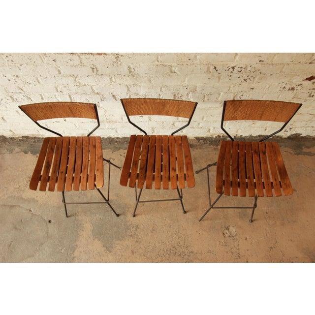 Arthur Umanoff for Raymor Mid-Century Modern Bar Stools - Set of 3 - Image 4 of 7