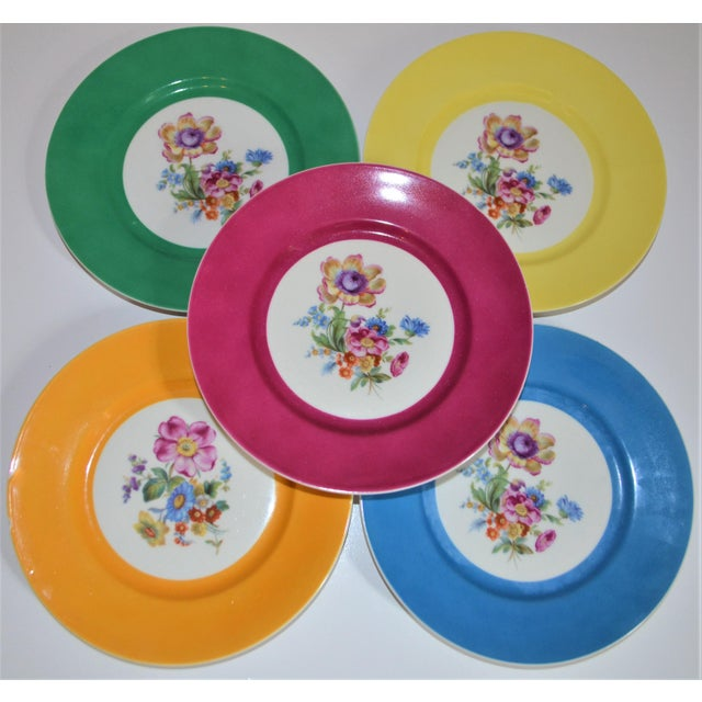 This is a set of hand painted porcelain plates made by the Richard Ginori in Italy. These are small plates that can be...