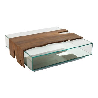 Canela Glass Box Coffee Table For Sale