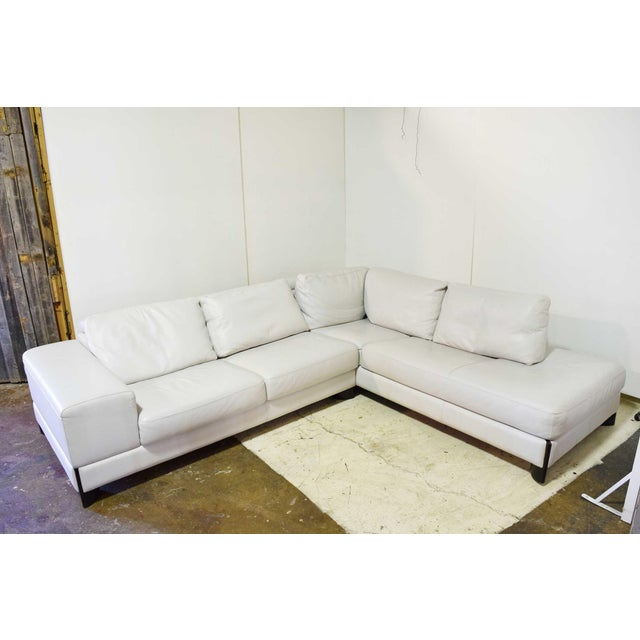 Contemporary Italian Leather Sectional Sofa For Sale - Image 3 of 9