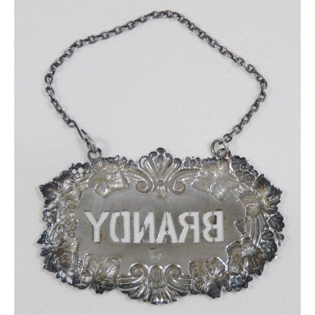1890s Antique Sterling Silver Liquor Decantor Label For Sale - Image 4 of 13
