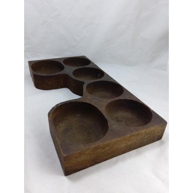 Rustic Antique Cash Register Wood Change Organizer - Image 5 of 8