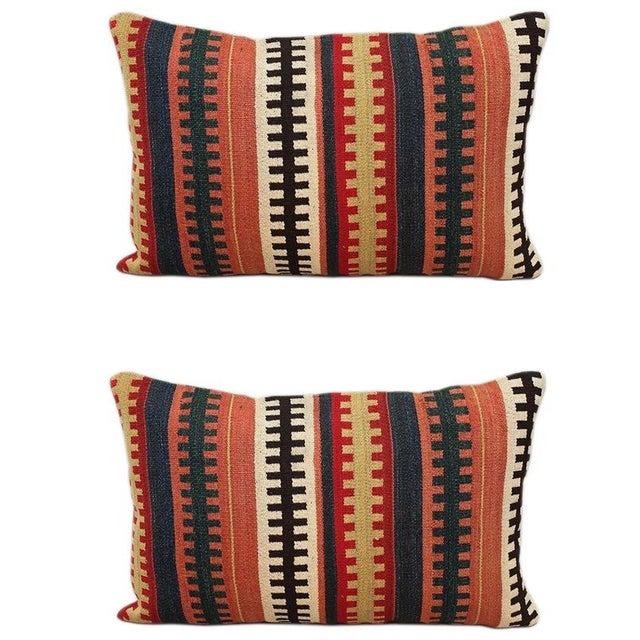 1930s Vintage Kilim Pillows - A Pair - Image 1 of 2