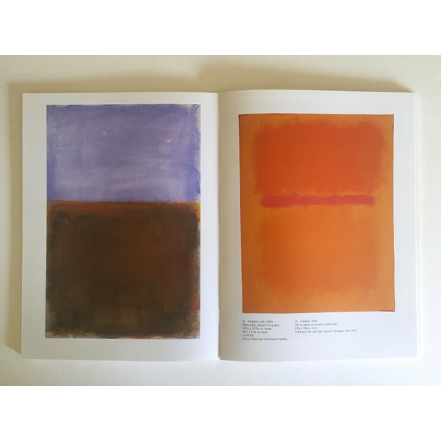 """Orange """" Mark Rothko : Works on Paper """" Vintage 1984 1st Edtn Abstract Expressionist Lithograph Print Exhibition Art Book For Sale - Image 8 of 13"""