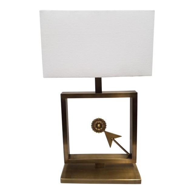 Modern Table Lamp With Arrow For Sale