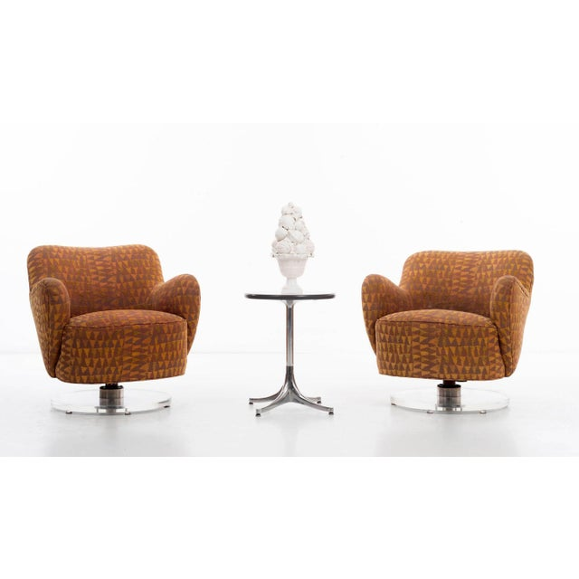 Vladimir Kagan Lucite Swivel Chairs For Sale - Image 11 of 12