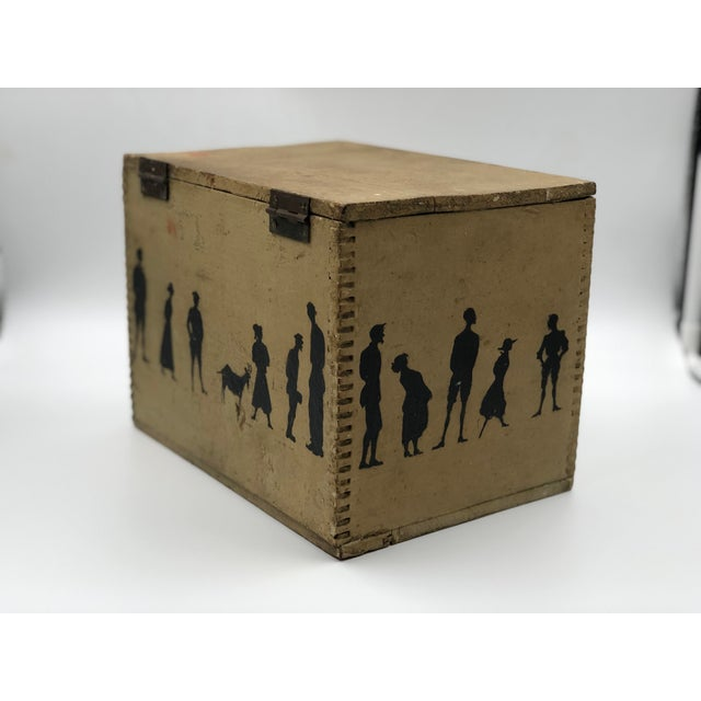 Late 19th Century 19th Century Silhouette Painted Wooden Box For Sale - Image 5 of 13