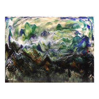 Untitled VIII by Ming Chiao Kuo, 1984, Enamel on Copper, Framed